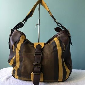 Burberry highmarket mustard brown hobo